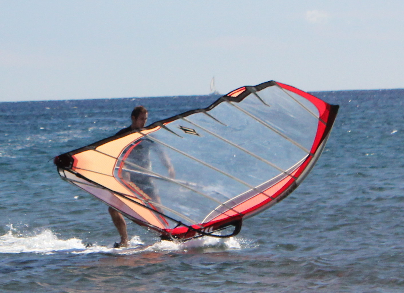 How to Stop a Windsurfer - Drop Sail