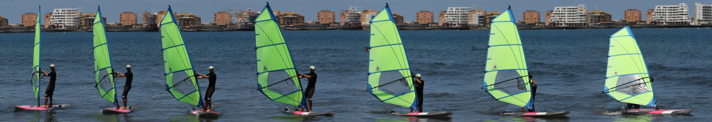 How to Stop a Windsurfer - Luff up to the max