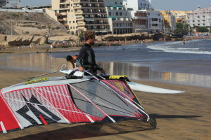 Carry Windsurf Gear footstrap and boom no wind