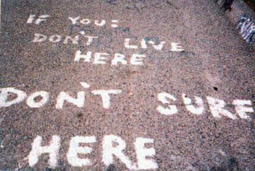 Localism - street warning