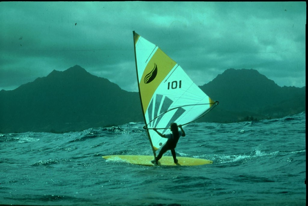 Oldschool Windsurfer