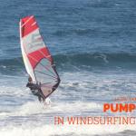 windsurfing pumping