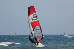 correct windsurf boom position