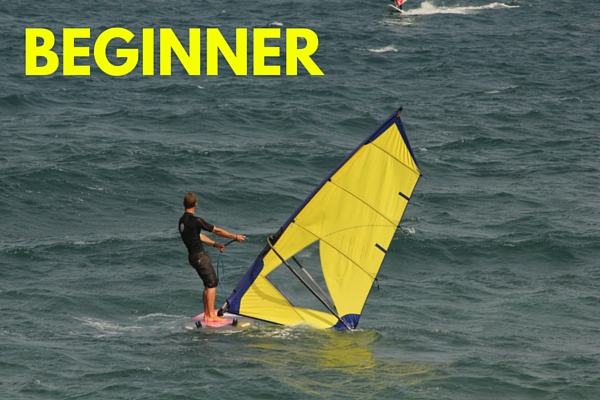 beginner windsurfing