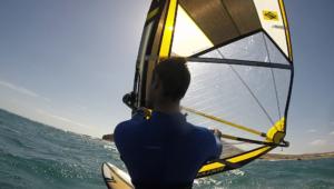 Overhand windsurfing
