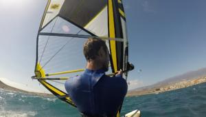 Underhand windsurfing